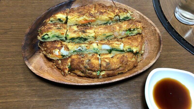韓国料理つどいの海鮮チヂミ