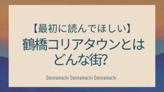 大阪の鶴橋・コリアタウンとはどんな街?【わかりやすく説明します】