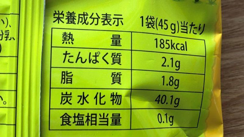 バナナキックのカロリーや原材料