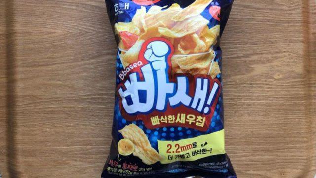 パセ|韓国の人気スナック菓子【めっちゃ軽い食感とえび感がおいしい】