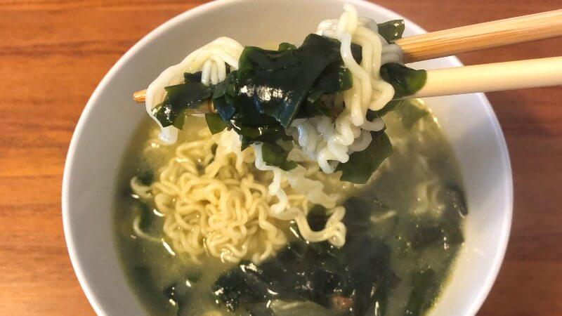 韓国牛肉わかめスープラーメンの味