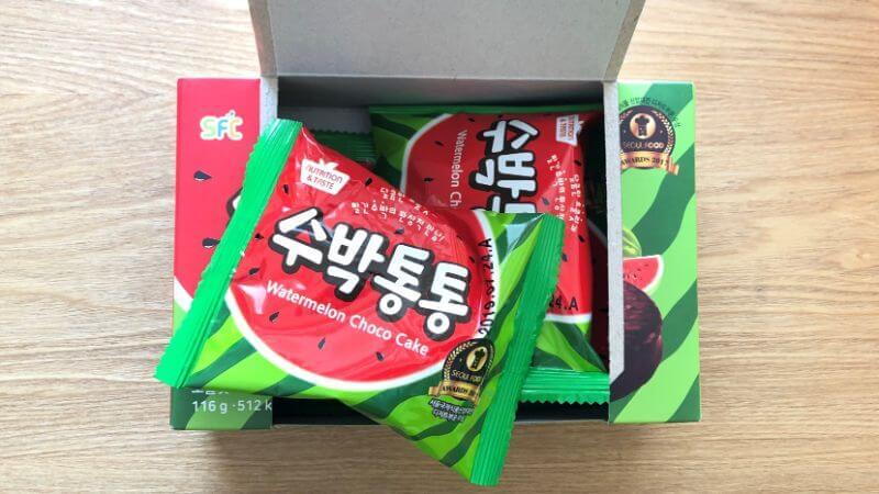 韓国のスイカチョコパイの味は?