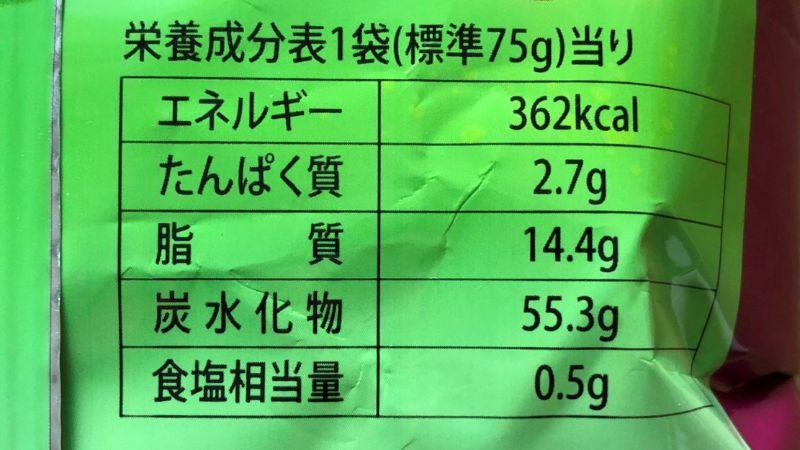 韓国ハニーツイストスナックのカロリーや原材料